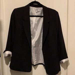Kensie Black Stretch Crepe Blazer